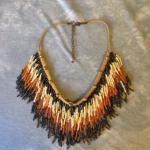 Free People fringe collar necklace